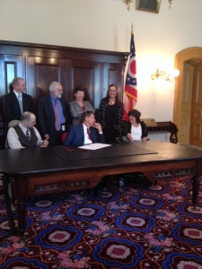 Bill signing with gov