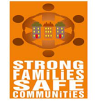 Strong Families Safe Communities logo