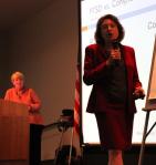 Mary Vicario, speaking
