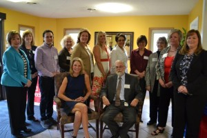 The Common Threads Network (CTN) in southwest Ohio supports organizations addressing common concerns of families and individuals with disabilities in Butler, Clermont, Hamilton, and Warren counties. An August meeting gathered many participants together in Butler County to discuss topics including health care and sexuality. Next meeting is November 19 in East Springdale, OH – register online at www.commonthreadsnetwork.org Shown (l. to r. , standing): Lisa Guliano, Superintendent, Butler County Board of DD; Amy Clawson, Division of Developmental and Behavioral Pediatrics, Cincinnati Children's Hospital; David Delgado, Butler County Board of DD; Jean Houston, Clermont County Families Connected; Sue Bitsko, Red Tree House; Tara Amburgy, Warren County Board of DD; Lynne Calloway, Hamilton County DD Services; Sheryl Feuer, CCHMC; Jennifer Brown, Parent/Autism Society of Greater Cincinnati; Debbie Shannon, Talbert House; and, Megan K. Manuel, Superintendent, Warren County Board of DD Superintendent. Seated: Peggy Martin, DODD Family Advocate;  John Martin, DODD Director.