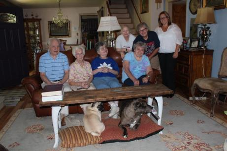 At home in Mahoning County are (l. to r.) Sam, Mary Lou, and Susan Neva, with Regina, Lori, Debbie, and Kathy. Meet them all in the newest issue of Pipeline Quarterly, focusing on Ohio shared living residential service options.