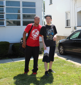 Mahoning County Shared Living service provider, Anthony (left), with Jeff -- leaving the house to grab a hot dog and soda on a beautiful day in Youngstown. For more information see the Adult Foster Care Rule online.