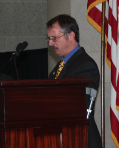 """Michael Richards returns to the Statehouse spotlight after 11 years. Michael Richards, owner of M&A Small Engine Repair Shop in Highland County, has been an active self advocate for years, and noted a presentation he made 11 years ago regarding a piece of legislation at that time. Yesterday, he spoke to the promise of employment opportunities for people with disabilities.  He observed, """"If I had considered myself to be disabled, my business would not have happened. I know I can do! We have a promise from the State of Ohio now for more support. Let's make it work for all of us."""""""