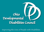 Two Ds imposed over each other with the words Ohio Developmental Disabilities Council